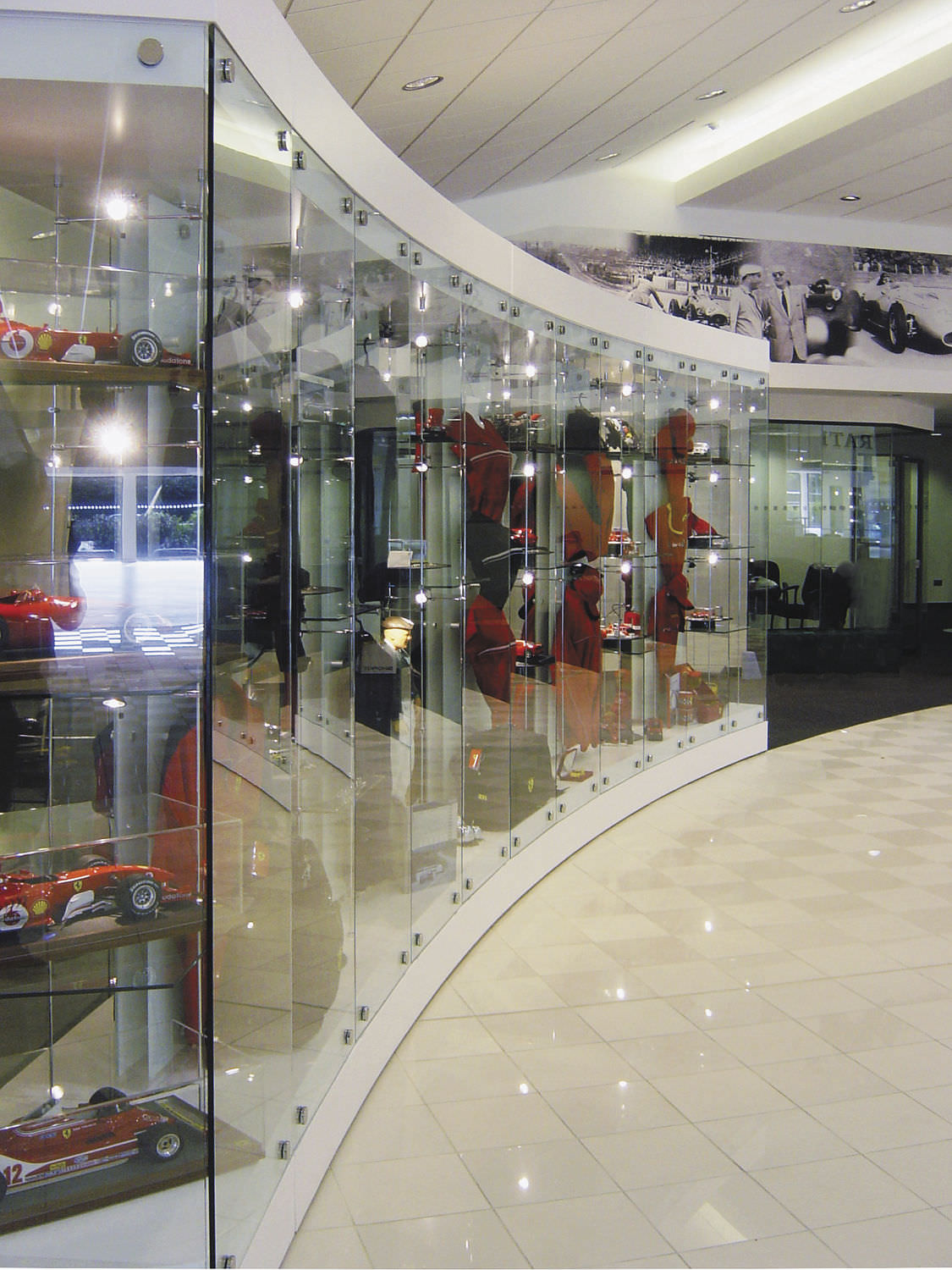 Contemporary Display Case Built In Glass Stainless