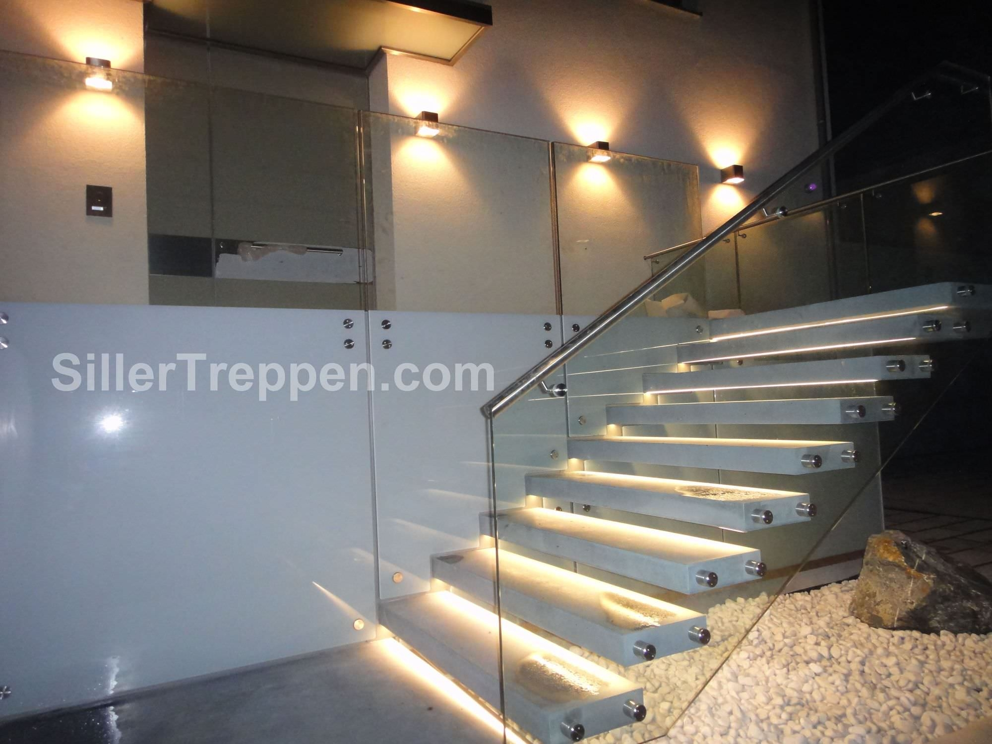 Straight Staircase Commercial Cantilevered Stairs Siller   Glass Stair Treads Cost   Floating Staircase   Handrail   Floating   Steel   Iron Stair