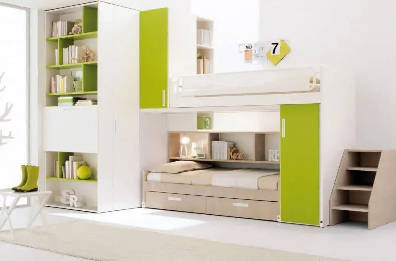 green children s bedroom furniture set
