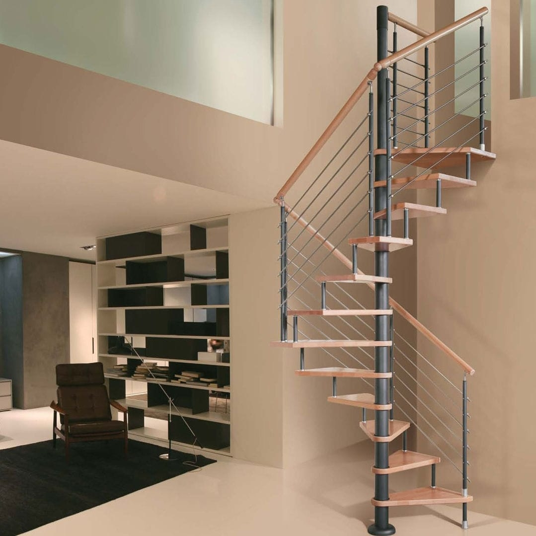 Square Spiral Staircase Eco Cls Italian Fashion Stairs Metal | Types Of Spiral Staircase | Staircase 2 | Detail | Living Room | German | Helical Staircase