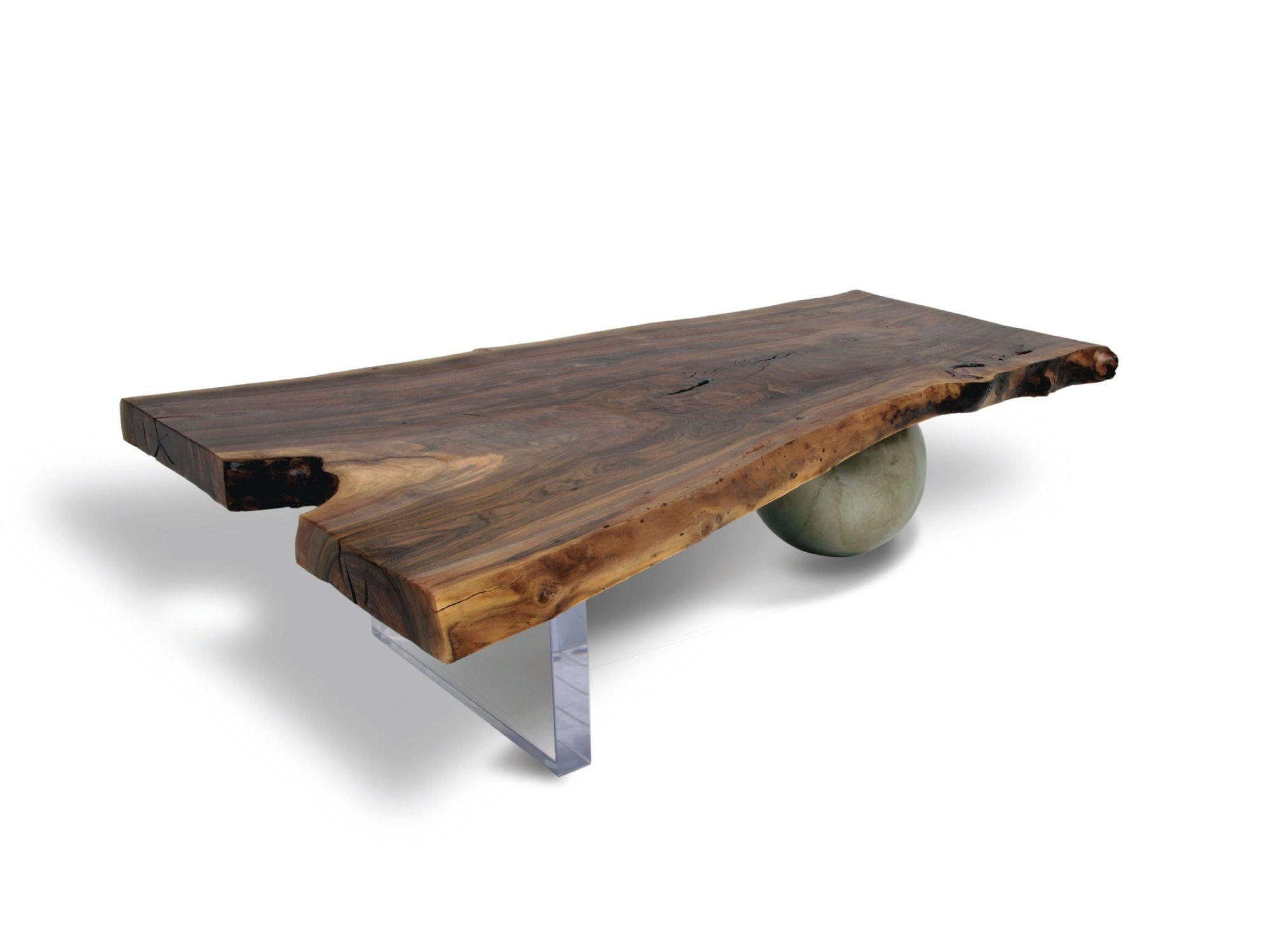 contemporary coffee table walnut
