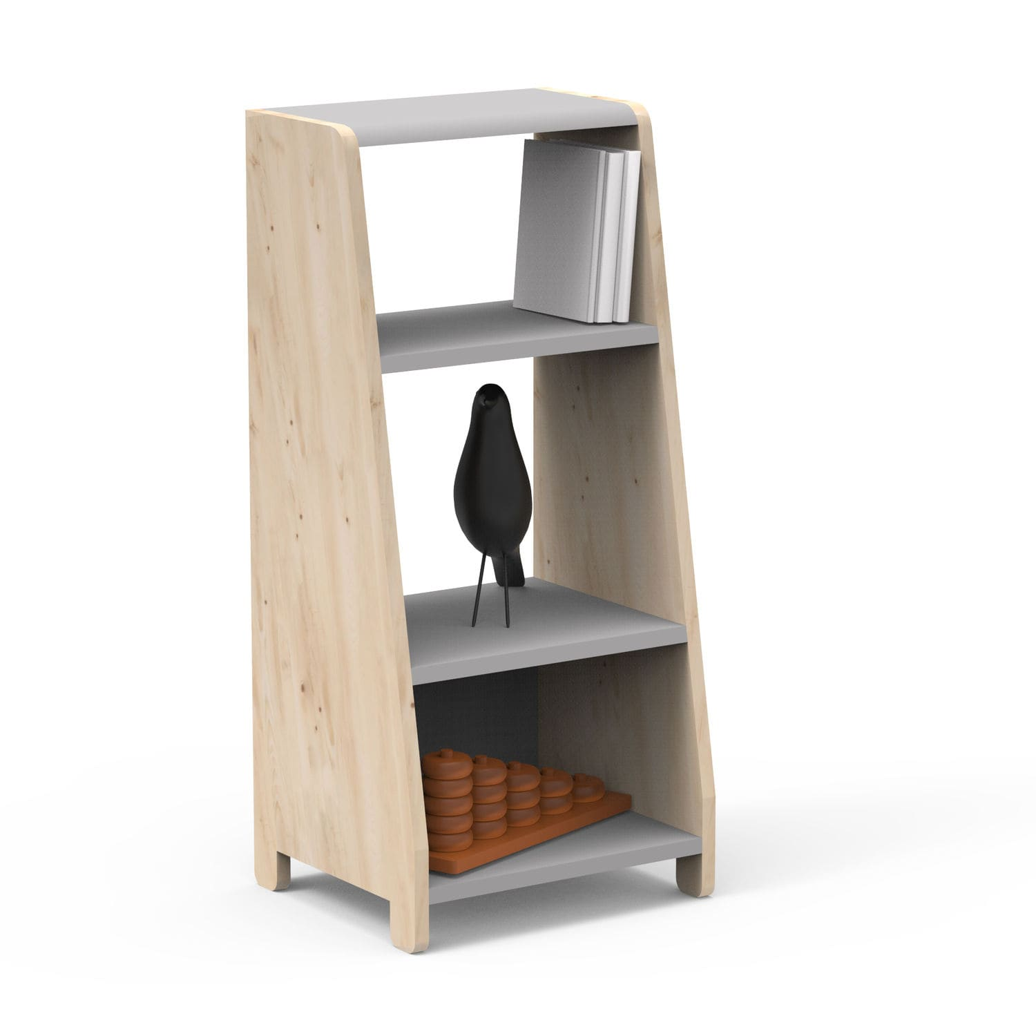 Modular Shelf Contemporary Wooden Child S Asymetry