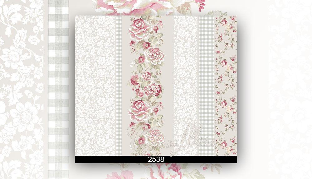 Il modello sul rotolo di carta da parati può essere personalizzato scegliendo la densità adatta. Traditional Wallpaper Fiori Country Parato Pvc Floral Striped