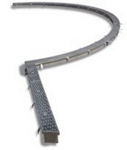 Drainage Channel With Grating Radius Channel Aco Building Drainage Stainless Steel For Public Spaces