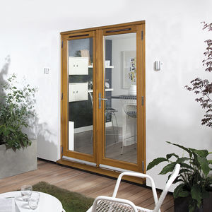 wooden french door all architecture