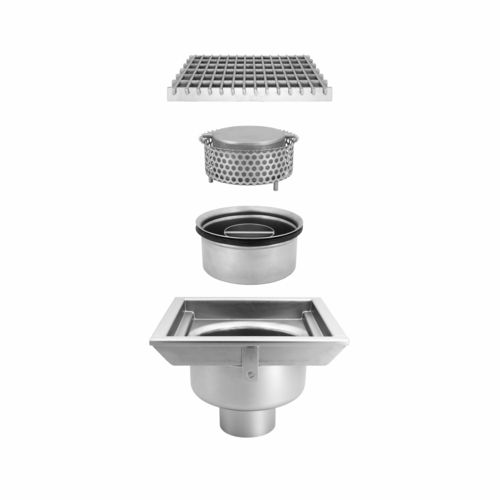 stainless steel floor drain total hygienic dis 0511 inoxsystem s r l for kitchens for industrial applications grated