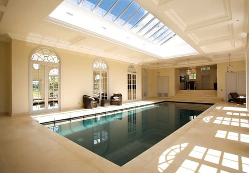In-ground swimming pool / concrete / mosaic / indoor SUSSEX GUNCAST SWIMMING POOLS