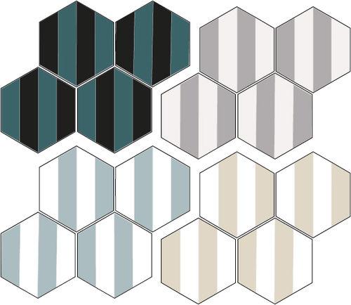 indoor encaustic cement tile hex 6