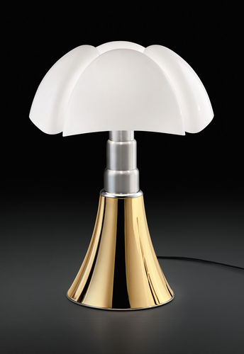 Table lamp / original design / methacrylate / by Gae Aulenti PIPISTRELLO ORO by Gae Aulenti 1965-2015 Martinelli Luce Spa
