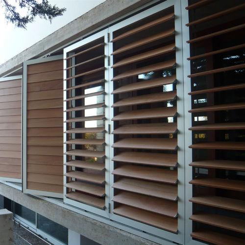 aluminum solar shading / wooden / composite / PVC
