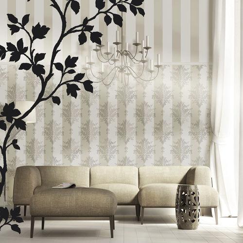 La casa del parato di modena si pone come il partner ideale per tutti coloro che hanno. Contemporary Wallpaper Attimi Parato Floral Striped Damask