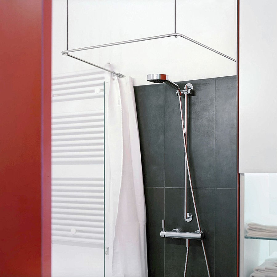 shower curtain rods u shape square for