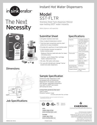 sst fltr insinkerator pdf catalogs