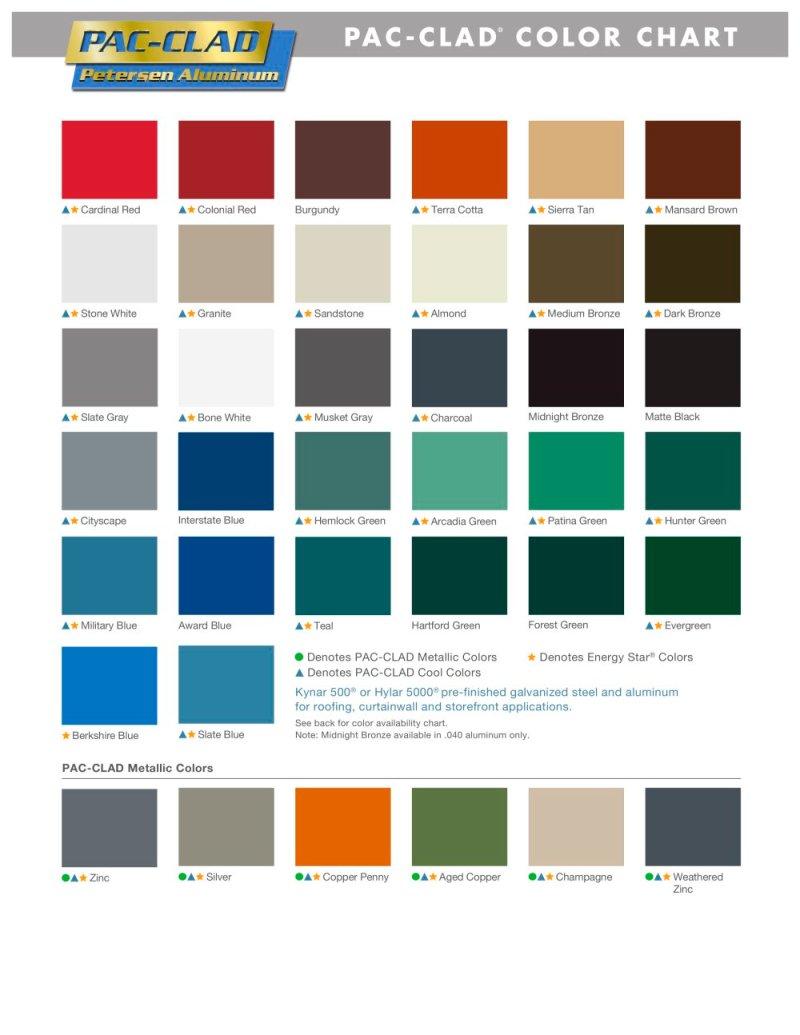 Una Clad Color Chart Zeenla