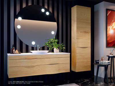 Doppelter Waschtisch Unterschrank Illusion Decotec Hangend Holz Modern