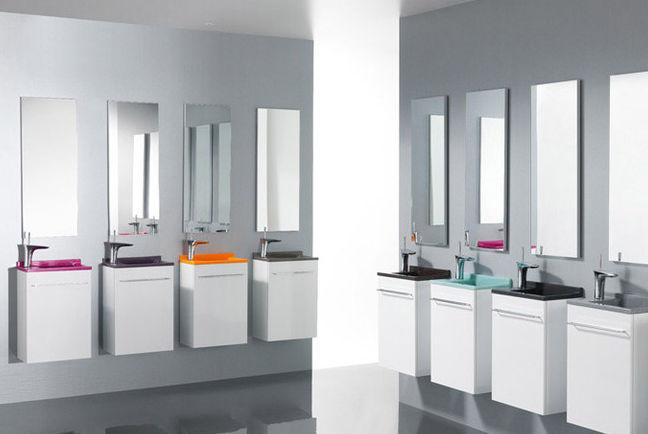 Wand Handwaschbecken Mambo Verso Ambiance Bain Rechteckig Verbundwerkstoff Mit Integriertem Handtuchhalter