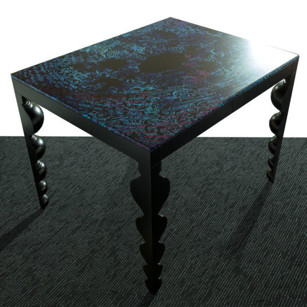 table mange debout de style en mdf en polyurethane rectangulaire dutch wave