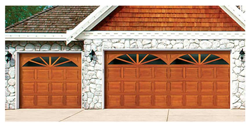 Porte De Garage Sectionnelle 300 Series Wayne Dalton En Bois Automatique