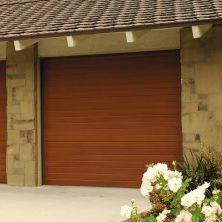 Porte De Garage Sectionnelle Model 9800 Wayne Dalton Bois Automatique