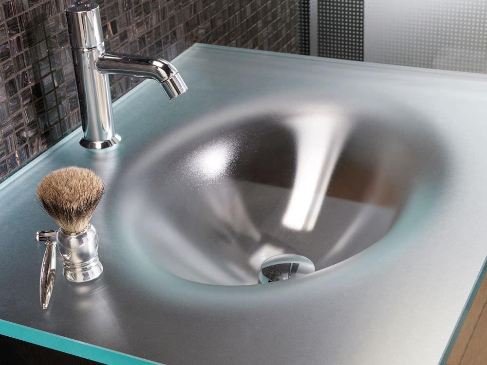 plan vasque en verre ecosat no