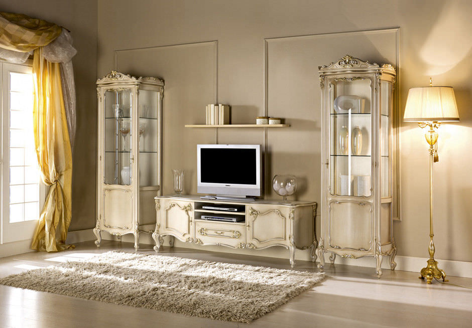 meuble tv design nouveau baroque