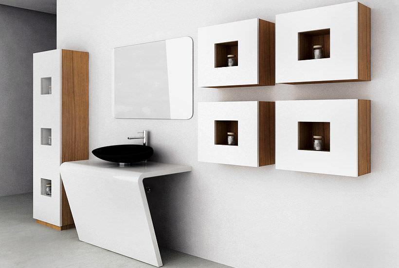 meuble de rangement mural mod cube