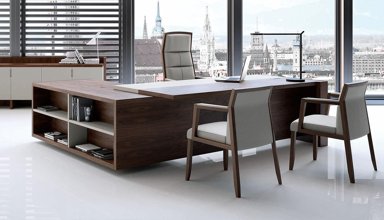 bureau de direction en bois contemporain professionnel