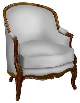 fauteuil de style louis xv mouluree