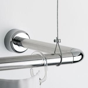 barre de rideau de douche courbee
