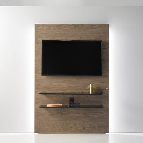 meuble tv contemporain cinema zn105 zegen hi fi avec eclairage integre en bois