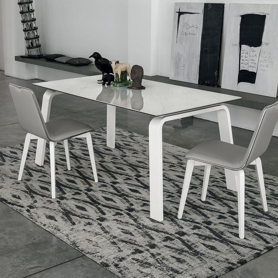 Deimos 160 Tavolo Da Pranzo Moderno In Mdf In Vetro Temprato In Laminato By Target Point New Archiexpo