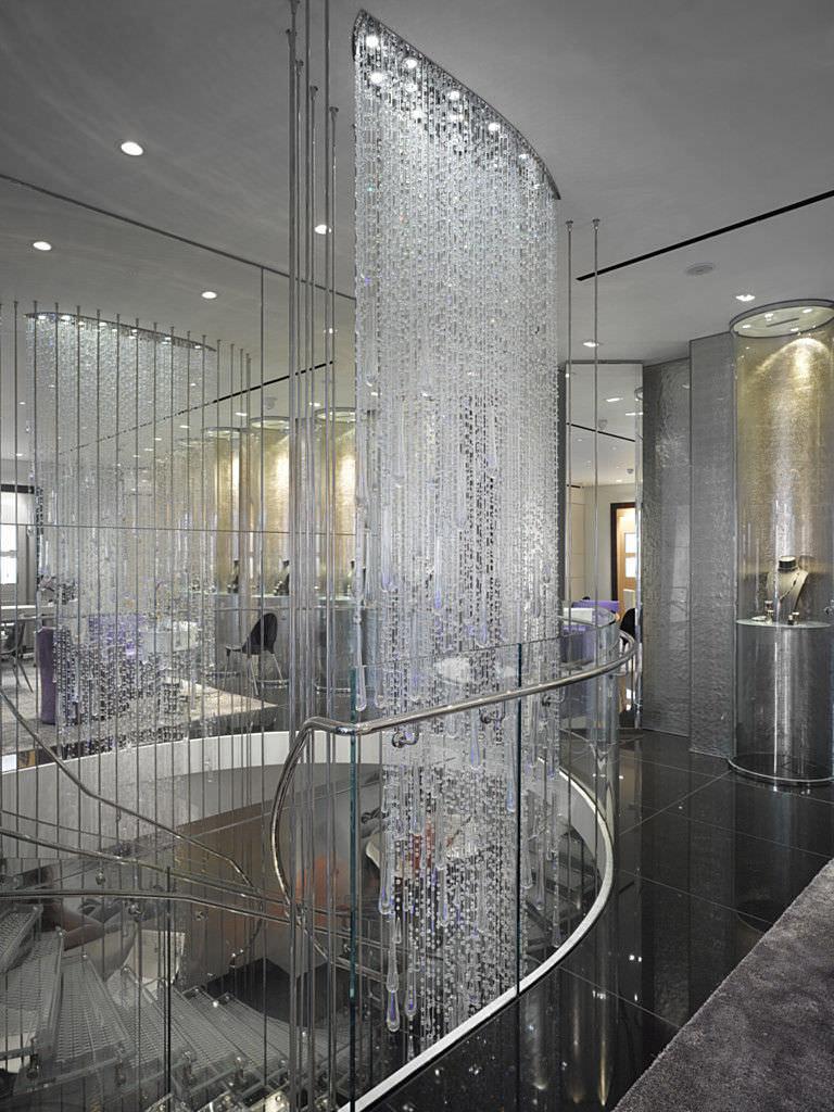 I lampadari di cristallo a cascata. Lampadario Moderno Sparkling Cascade Lasvit In Cristallo In Vetro Soffiato In Acciaio Inossidabile