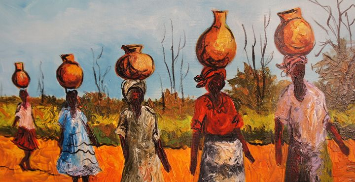 Water Bearers African Treasures Paintings Amp Prints Ethnic Cultural Amp Tribal African