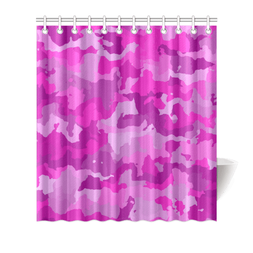 camouflage hot pink shower curtain 66 x72 id d313974