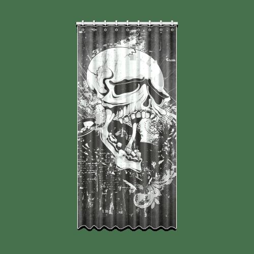 dark gothic skull window curtain 52 x 108 one piece id d319002