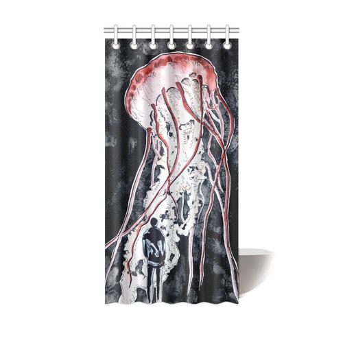 jellyfish shower shower curtain 36 x72 id d836177