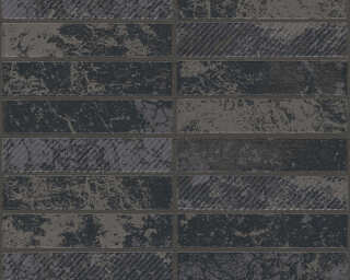 tile black metallic silver