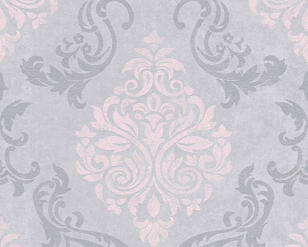 papier peint baroque gris