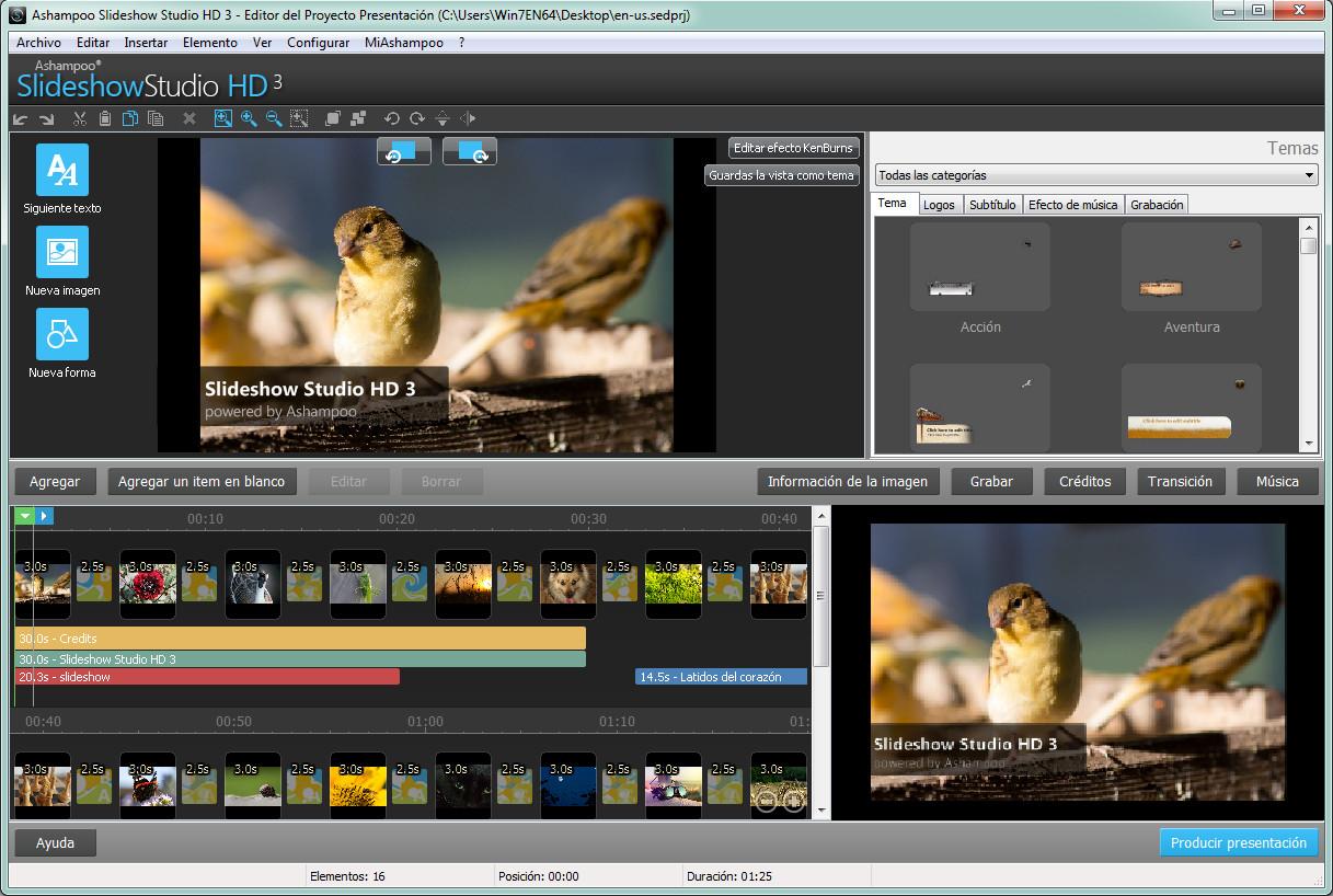Resultado de imagen de Ashampoo Slideshow Studio HD