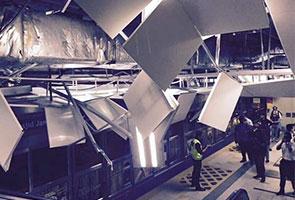 Siling stesen LRT Masjid Jamek runtuh