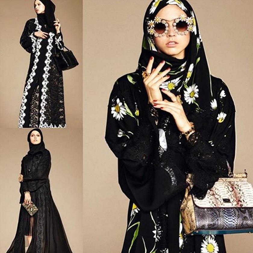 Wanita Arab Saudi mula memakai abaya yang berwarna- warni. Gambar hiasan