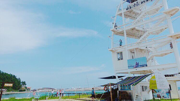 韓國江原道 ▌江陵高空飛索初體驗 아라나비 飛越海上的旅行 含交通介紹 #近南項津海邊