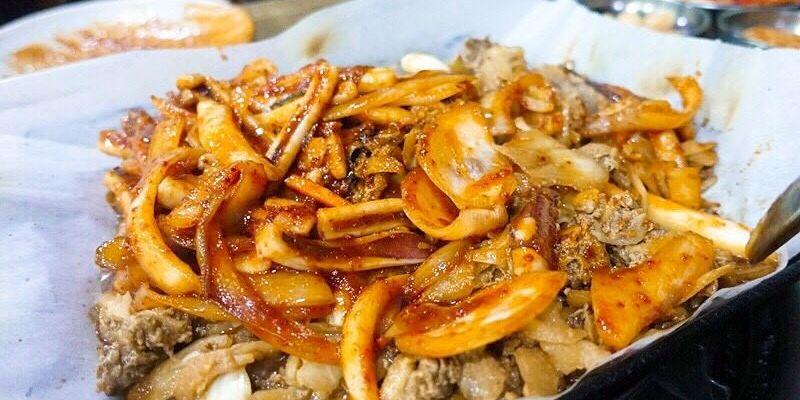 韓國首爾 ▌鐘閣站(131) 清進食堂 好滋的辣魷魚烤肉 韓國美食 청진식당 오징어 불고기