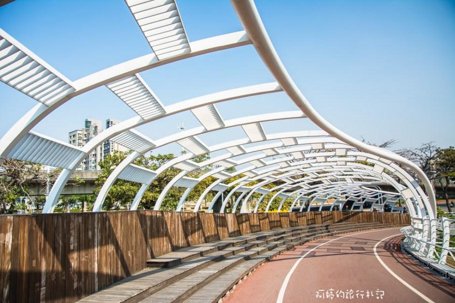 |高雄景點|前鎮之星自行車道,搭捷運跟輕軌就能到達