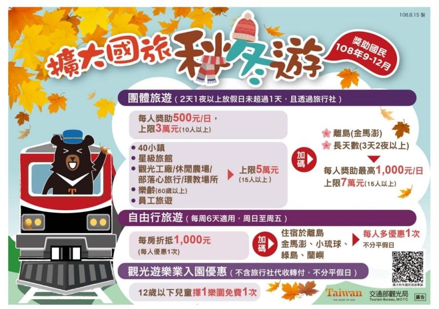  秋冬旅遊輔助懶人包 全台23間兒童樂園,12歲以下兒童免費暢遊主題樂園一次
