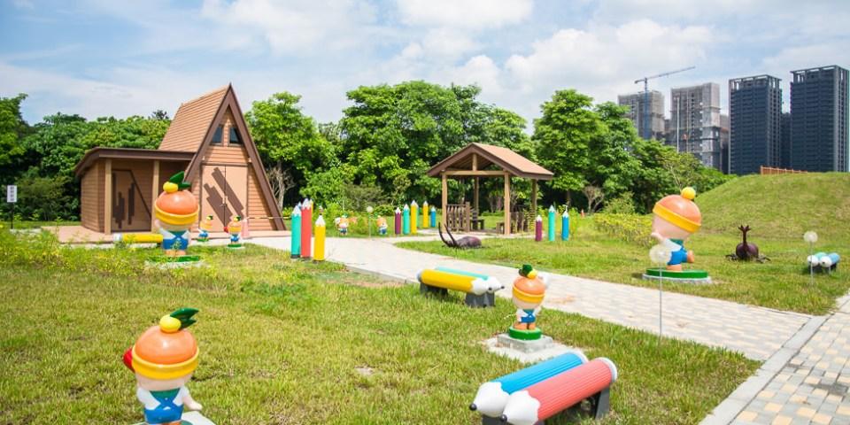  高雄景點 青埔溝童玩生態公園,可愛的高通通在這裡陪你玩