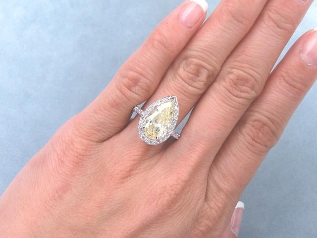 401 CARATS CT TW PEAR SHAPE DIAMOND ENGAGEMENT RING FANCY