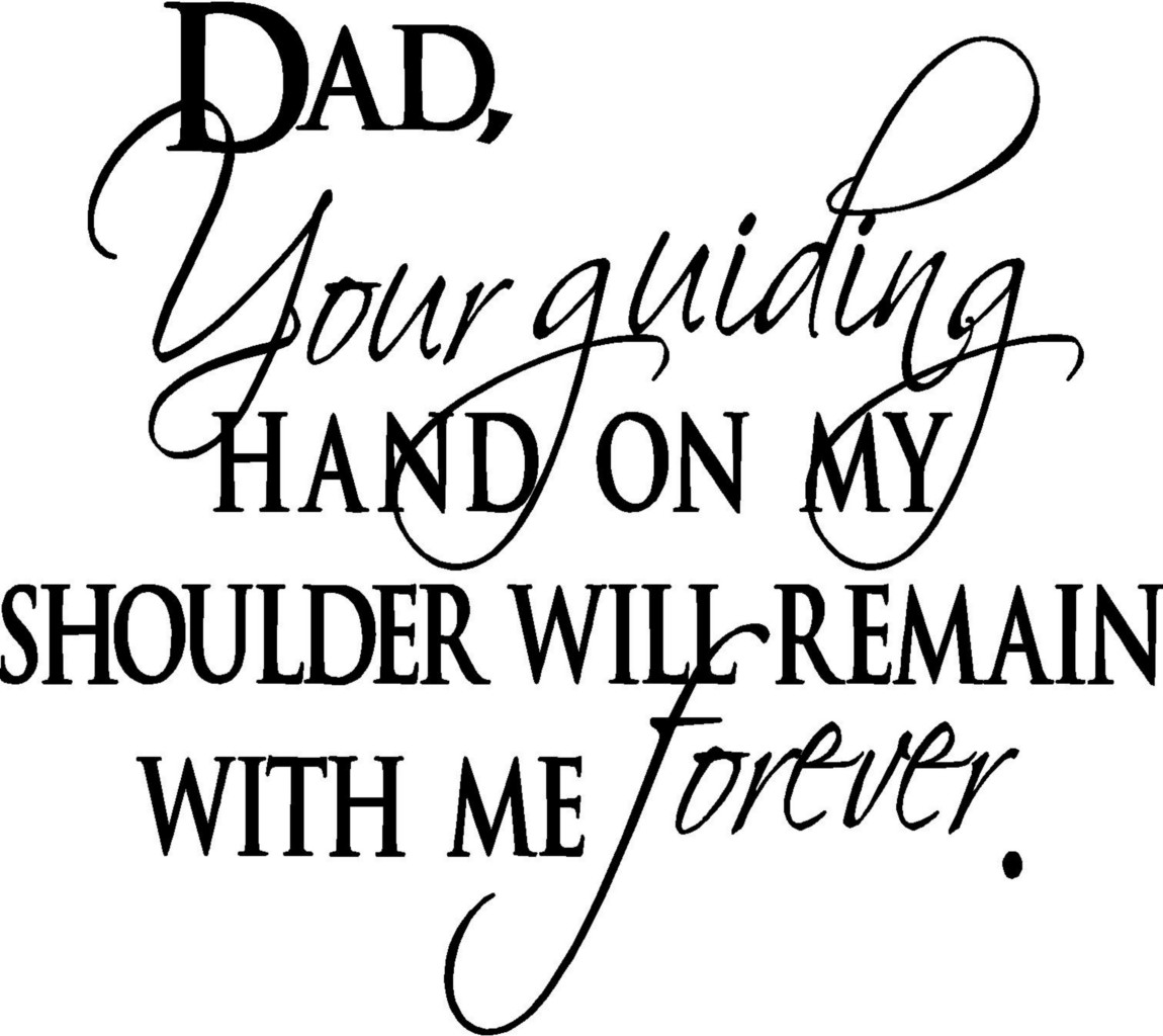 Dad Guiding Hand Wall Letters Words Sticker Vinyl Decal