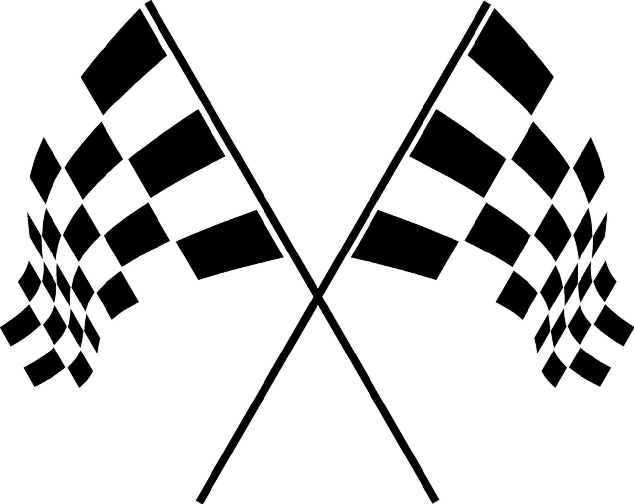 Checkered Racing Flags Vinyl Wall Decal Sticker Art Room