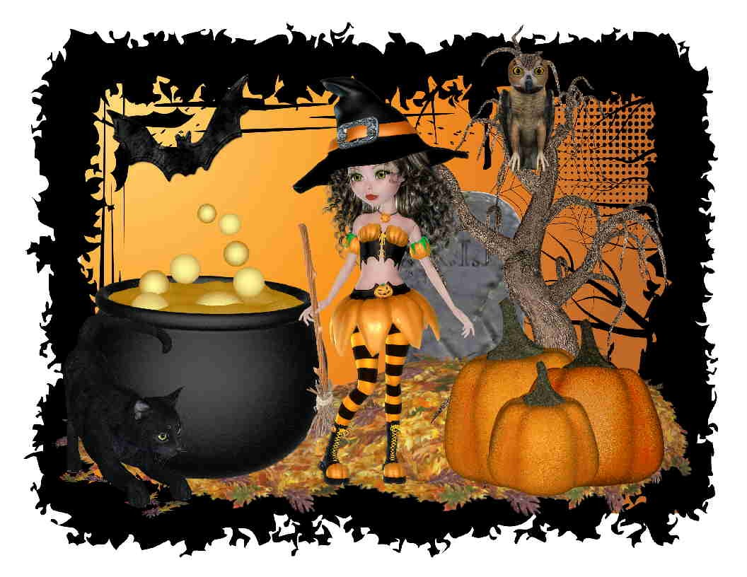 Custom Halloween Witch Pic Y